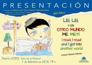 Teatro Liceo Lorena García Leí leí y en otro mundo me metí Salamanca Febrero 2018