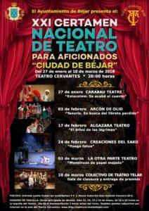 Teatro Cervantes XXI Certamen Nacional de Teatro para Aficionados Ciudad de Béjar 2018