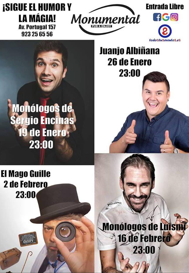 Pub Monumental Humor y magia Enero febrero 2018