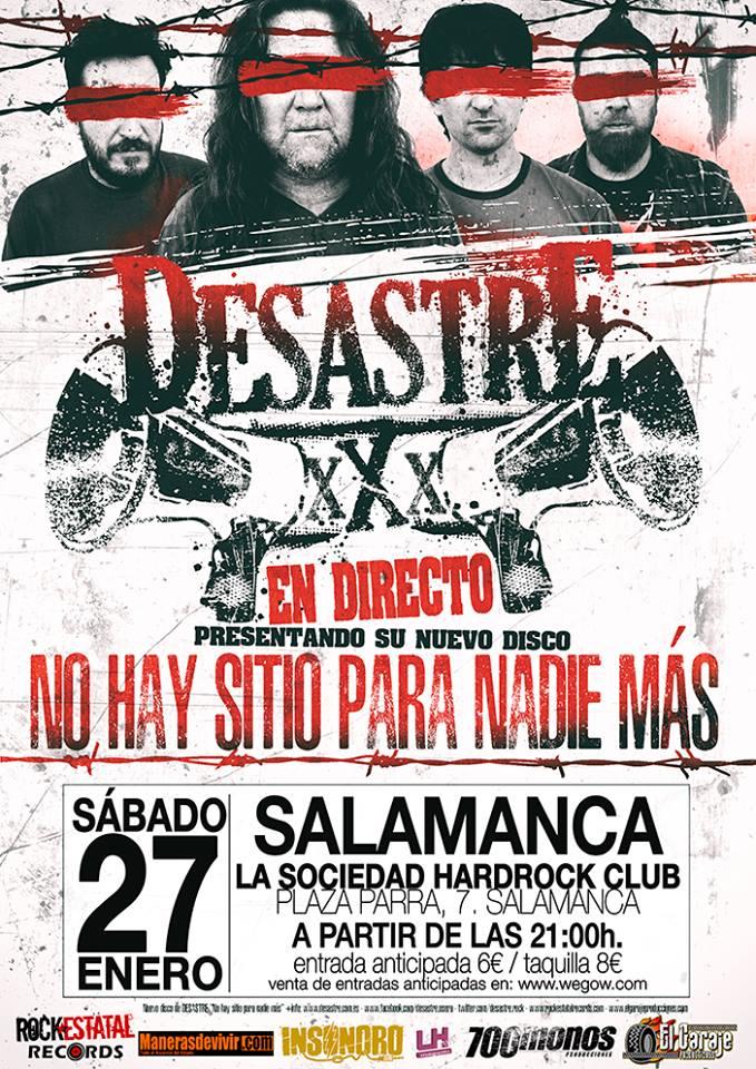 La Sociedad Hard Rock Club Desastre Salamanca Enero 2018