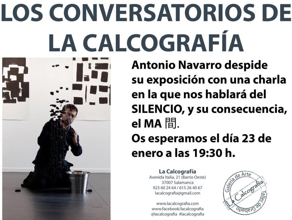 La Calcografía Antonio Navarro Los conversatorios de La Calcografía Salamanca Enero 2018