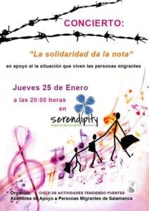 Serendípity La solidaridad da la nota Salamanca Enero 2018