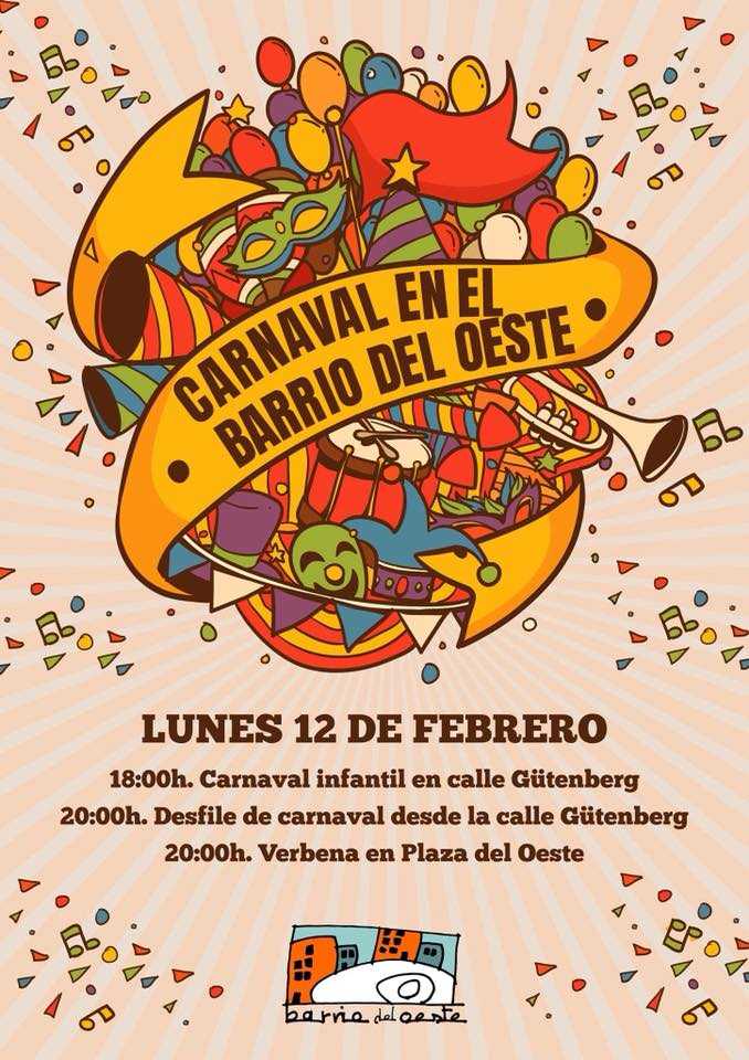 Asociación de Vecinos Barrio del Oeste ZOES Carnaval Salamanca Febrero 2018