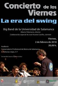 Conservatorio Profesional de Música de Salamanca Big Band de la Universidad de Salamanca Febrero 2018