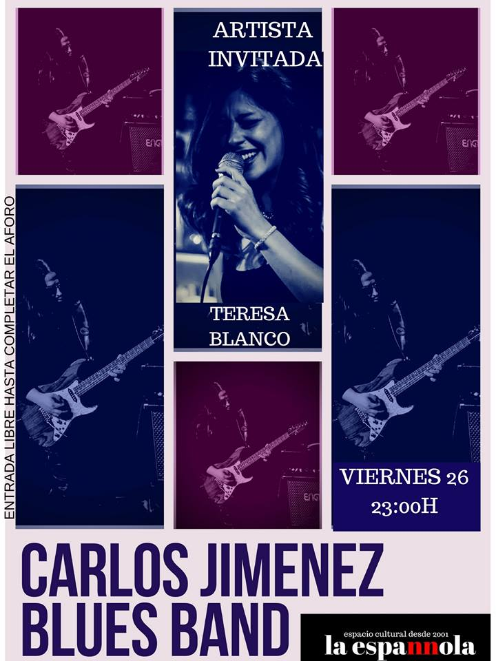La Espannola Carlos Jiménez Blues Band Teresa Blanco Salamanca Enero 2018