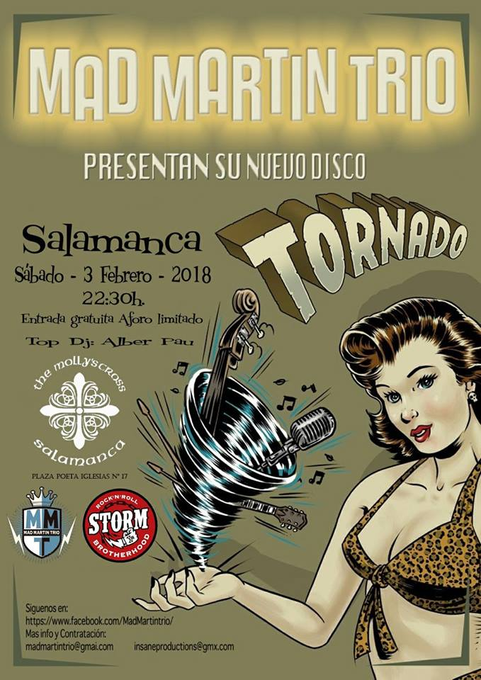 The Molly's Cross Mad Martín Trío Salamanca Febrero 2018