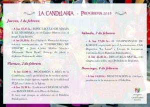 Programa Candelario Fiesta de la Candelaria Febrero 2018