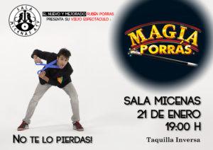 Sala Micenas Adarsa El show de magia Porrás Salamanca Enero 2018