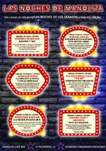 Manolita Café Bar Las noches de Manolita Salamanca Enero febrero marzo 2018