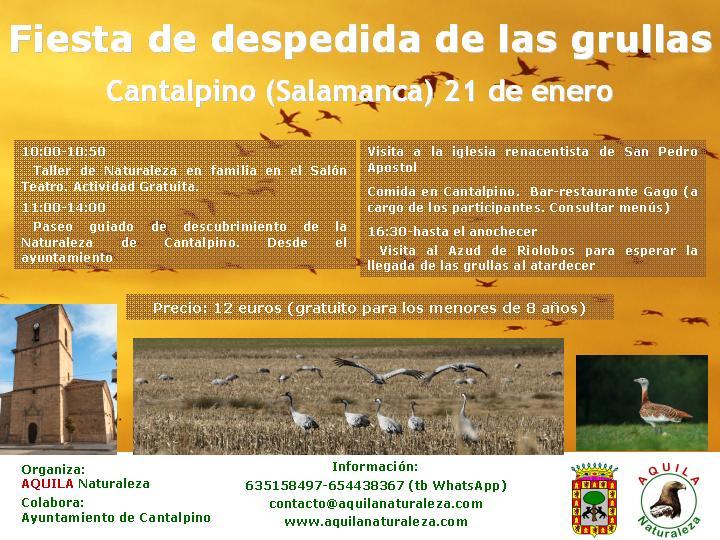 Cantalpino Fiesta de Despedida de las Grullas Aquila Naturaleza Enero 2018