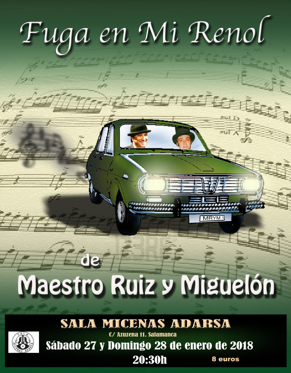 Sala Micenas Adarsa Fuga en mi Renol Salamanca Enero 2018
