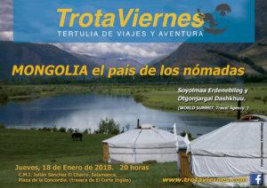 Julián Sánchez El Charro Trotaviernes Mongolia el país de los nómadas Salamanca Enero 2018