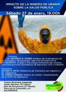 Julián Sánchez El Charro Impacto en la salud pública de la minería de uranio Salamanca Enero 2018