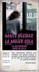 La Malhablada La mujer sola Salamanca Enero 2018