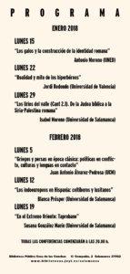 Programa Pueblos en la sombra bárbaros frente a griegos y romanos Salamanca 2018