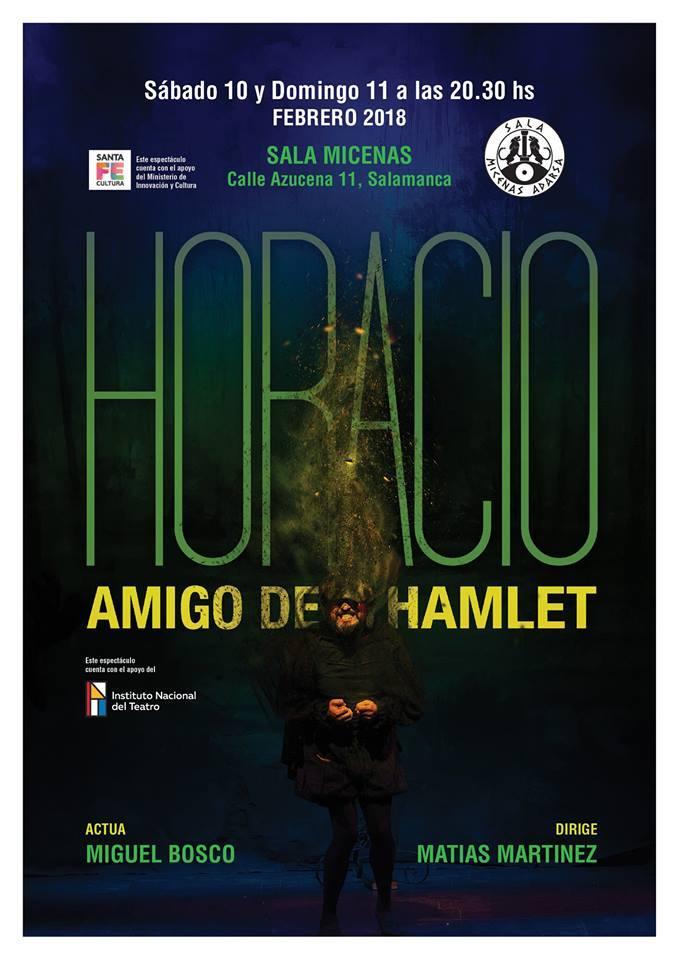 Sala Micenas Adarsa Horacio amigo de Hamlet Salamanca Febrero 2018