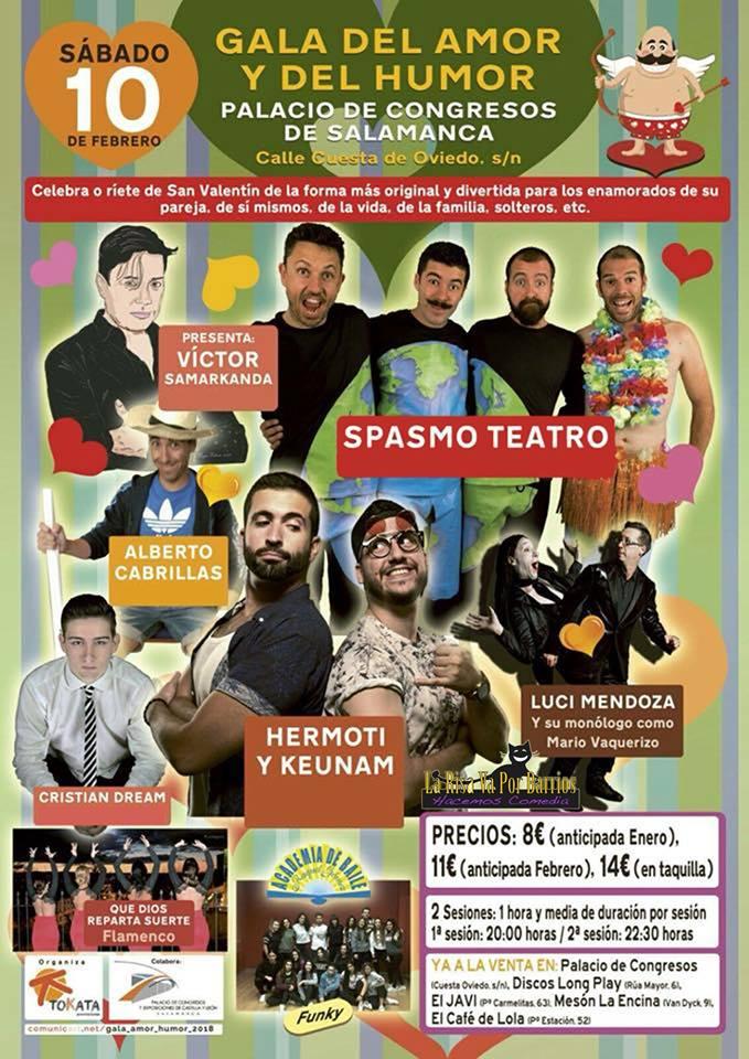 Palacio de Congresos y Exposiciones Gala del Amor y del Humor Salamanca Febrero 2018