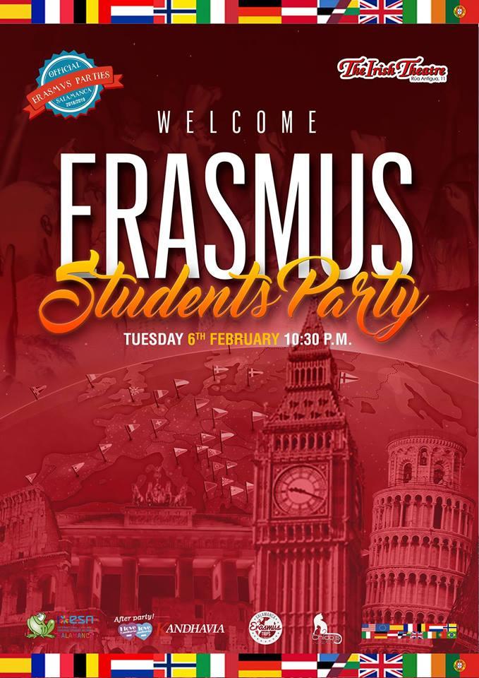 The Irish Theatre Welcome Eramus Students Party Salamanca Febrero 2018