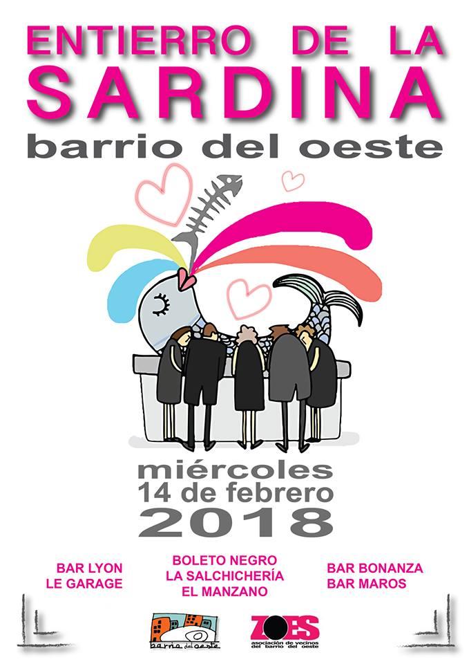 Asociación de Vecinos Barrio del Oeste ZOES Entierro de la Sardina Salamanca Febrero 2018