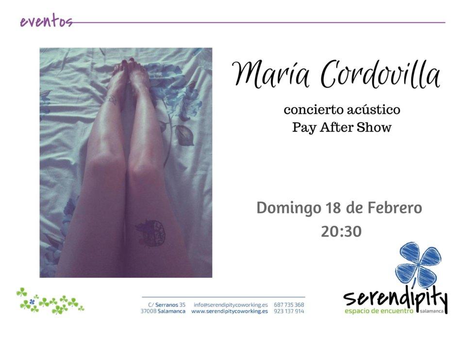 Serendípity María Cordovilla Salamanca Febrero 2018