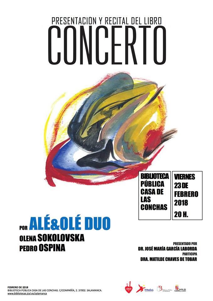 Casa de las Conchas Concerto Salamanca Febrero 2018