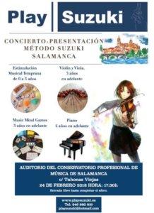 Conservatorio Profesional de Música de Salamanca Play Suzuki Febrero 2018