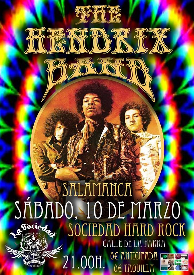 La Sociedad Hard Rock Club The Hendrix Band Salamanca Marzo 2018