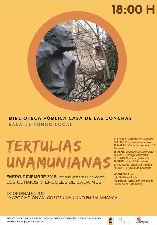 Casa de las Conchas Tertulias Unamunianas 2018