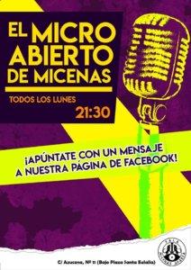 Sala Micenas Adarsa El micro abierto de Micenas Salamanca 2018