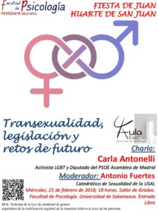 Facultad de Psicología Transexualidad legislación y retos de futuro Universidad de Salamanca Febrero 2018