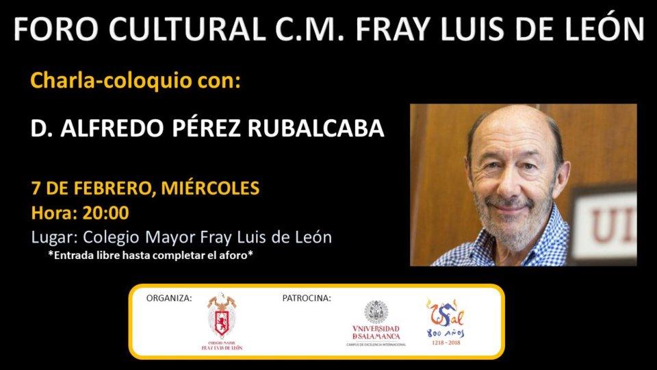 Colegio Mayor Fray Luis de León Alfredo Pérez Rubalcaba Salamanca Febrero 2018