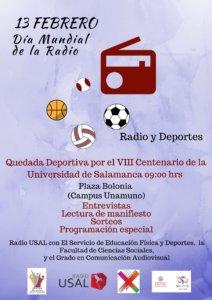Día Mundial de la Radio Radio y Deportes Universidad de Salamanca Febrero 2018