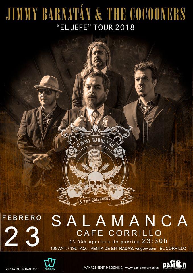 Café Corrillo Jimmy Barnatán and The Cocooners Salamanca Febrero 2018