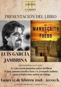 Casino de Salamanca El manuscrito de fuego Febrero 2018