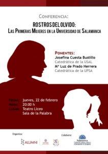 Teatro Liceo Rostros del olvido Las primeras mujeres en la Universidad de Salamanca Febrero 2018