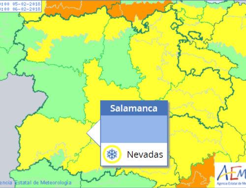 Este lunes, 5 de febrero, la nieve pone en alerta meterológica amarilla a Salamanca.
