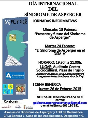 Día Internacional del Síndrome de Asperger Jornadas Formativas Salamanca Febrero 2018