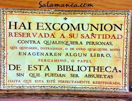 Hai excomunion… Contra ladrones de libros, pergaminos o papeles.
