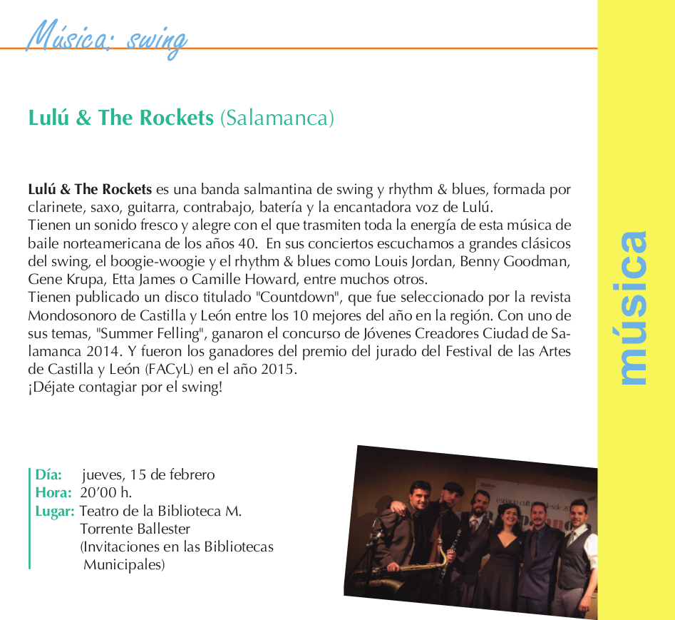 Torrente Ballester Lulú The Rockets Salamanca Febrero 2018