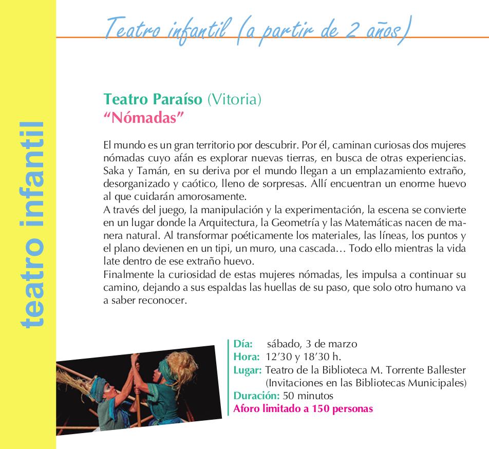 Torrente Ballester Teatro Paraíso Nómadas Salamanca Marzo 2018