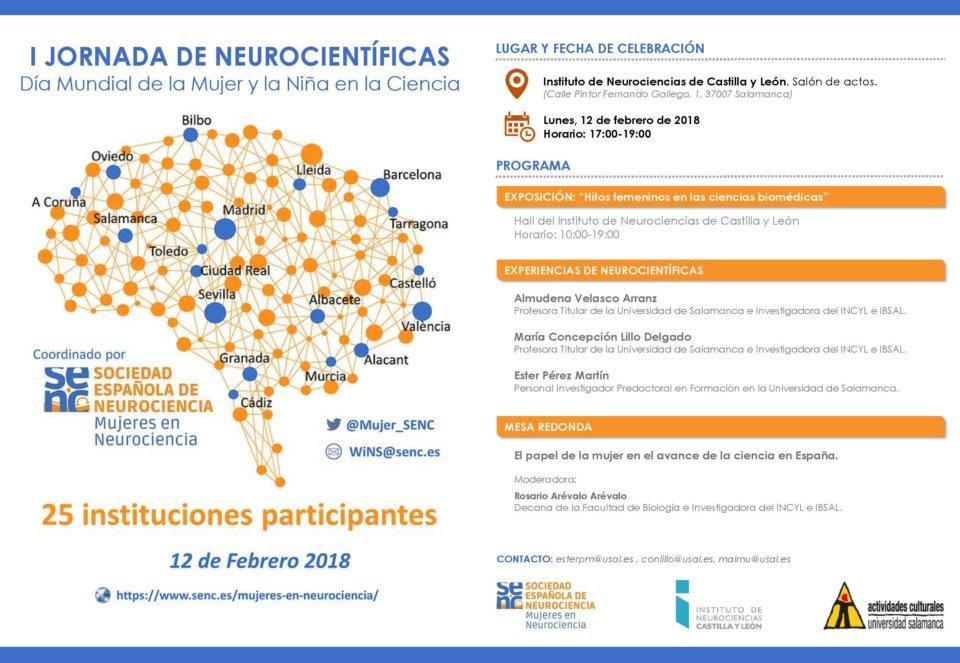 INCYL I Jornada de Neurocientíficas Salamanca Febrero 2018