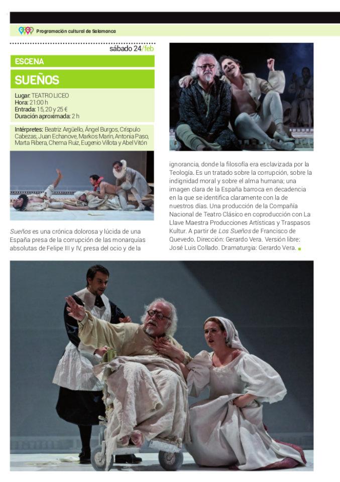 Teatro Liceo Sueños Salamanca Febrero 2018