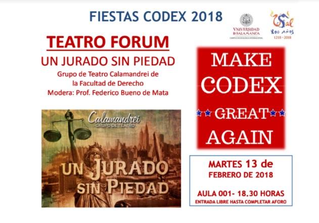 CODEX 2018 Teatro Forum Un jurado sin piedad Salamanca Febrero 2018