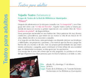 Torrente Ballester Tejuelo Teatro Doce Salamanca Febrero 2018