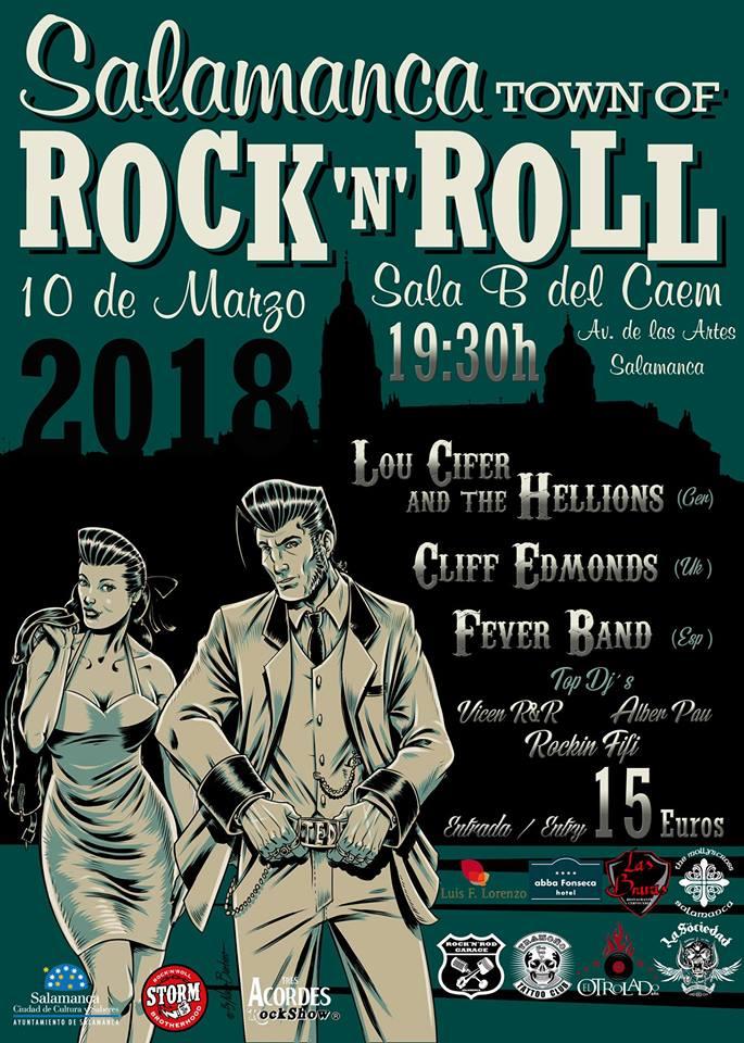 Centro de las Artes Escénicas y de la Música CAEM Salamanca Town of Rock and Roll 2018 Marzo