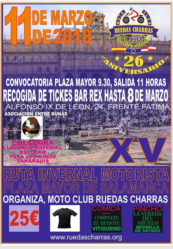 Plaza Mayor XV Ruta Invernal Motociclista Salamanca Marzo 2018