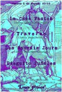 Trece Monos La Casa Fantom + Traverse + Les Mauvais Jours + Dieguito Puñales Salamanca Marzo 2018