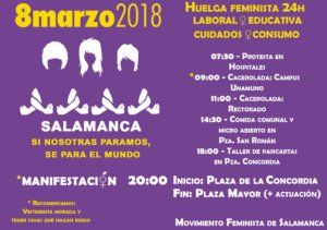 Huelga 8M Movimiento Feminista de Salamanca
