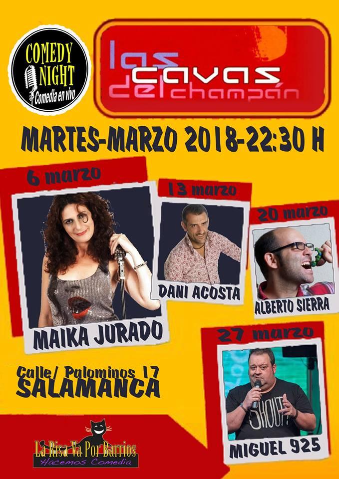 Las Cavas del Champán Comedy Night Salamanca Marzo 2018