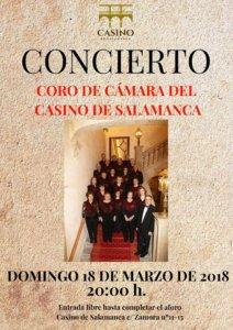 Casino de Salamanca Coro de Cámara del Casino de Salamanca Marzo 2018